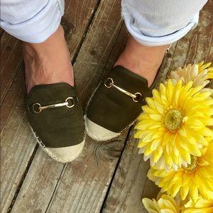 Shoes - 💚🌷LAST PAIR! Green Flat Mule💚 Espadrille🌷